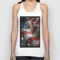 patriotic Tank Tops featuring Patriotic America by D.A.S.E. 3