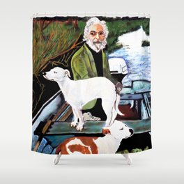 Goodfellas Dogs Painting, Artwork for Wall Art, Prints, Poster, Tshirts, Men, Women, Youth Shower Curtain