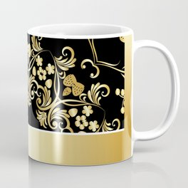 Golden floral with strawberries Coffee Mug