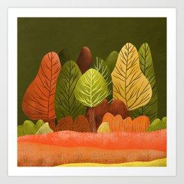 Autumn landscapes 2 Art Print