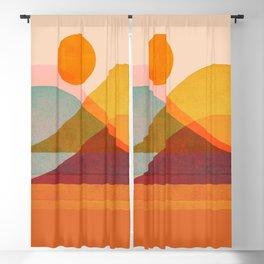 Abstraction_SUNSET_LANDSCAPE_POP_ART_Minimalism_018X Blackout Curtain