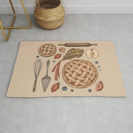 Pie Baking Collection Rug