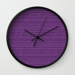 Dewberry Wood Grain Texture Color Accent Wall Clock