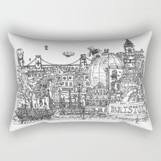 Busy City – Bristol, UK Rectangular Pillow