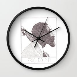 Eric Dolphy Jazz Portait Wall Clock