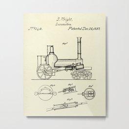 Locomotive-1837 Metal Print