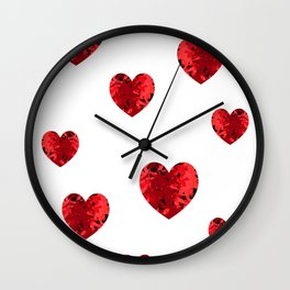 Hearty heart hearts Wall Clock