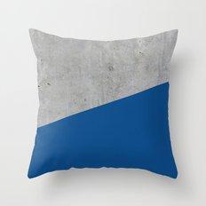 Concrete and lapis blue color Throw Pillow