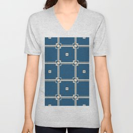 Vintage abstract background. Decorative wallpaper design in shape. Abstract stylish geometric background.  Unisex V-Neck