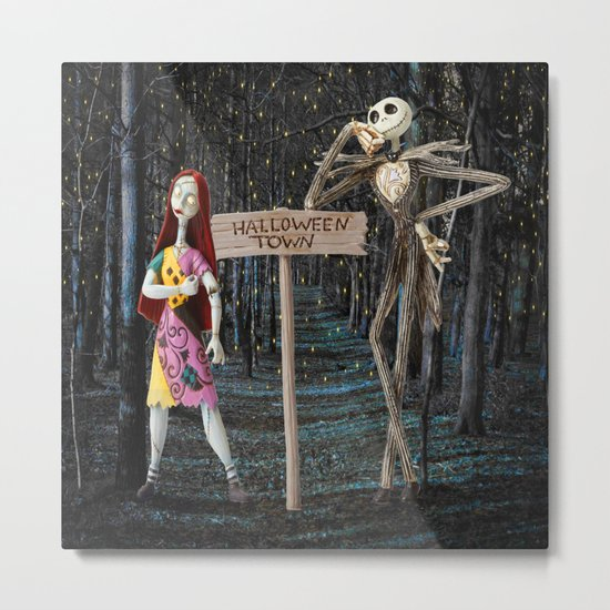 Halloween Town | Jack | Sally | Christmas | Nightmare Metal Print