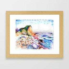 wizardly bolinas beach Framed Art Print