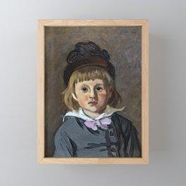 Portrait de son fils Jean en bonnet à pompon, Claude Monet Framed Mini Art Print