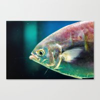 swim Canvas Prints featuring Swim by Iain Christopher Mclellan Bastidas