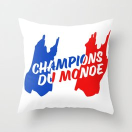 World Champions French Soccer Football Throw Pillow