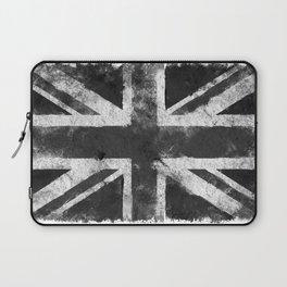 Black and white England Grunge flag Laptop Sleeve