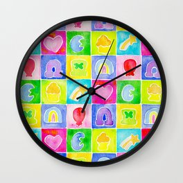 Rainbow Charms Wall Clock