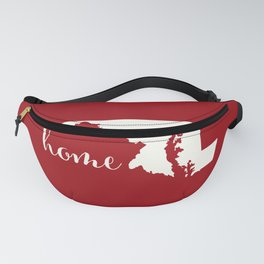 Maryland is Home - Red on White Fanny Pack