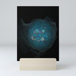 Mosaic World Blue Art Mini Art Print