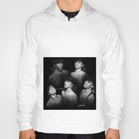 fifth harmony Hoodies featuring Fifth Harmony 'Reflection' Digital Painting by Emilia Apreda