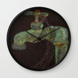 Idle Spigot Wall Clock