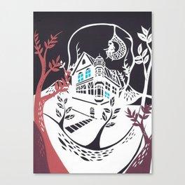 Round Tree House Canvas Print