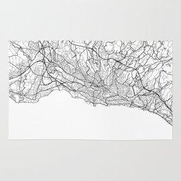 Lausanne Map White Rug