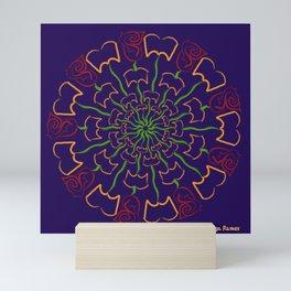 Pétalos y páginas (Petals and pages) Mini Art Print