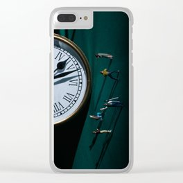 The Clock Watchers Clear iPhone Case