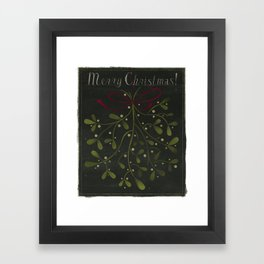 Merry Christmas Mistletoe! Framed Art Print