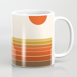 Peace Out - sunset ocean surfing beach life 70s style retro 1970s design Coffee Mug