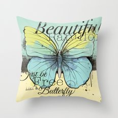 Beautiful Papillon ( butterfly ) Throw Pillow