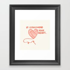 Mend Your Heart Framed Art Print