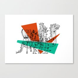 Adjacent Fourmula Canvas Print