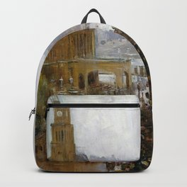 Arthur Streeton - Fireman's Funeral, George Street - Digital Remastered Edition Backpack