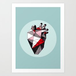 Minty Bubble Heart vol. 2 Art Print