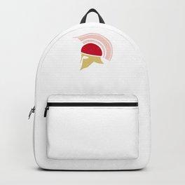 Roman Galea or Helmet in Japanese Peach, Yellow, and Red II Backpack