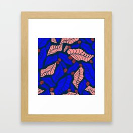 Bright bold floral designs for fashion and home Framed Art Print