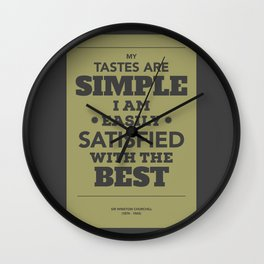 Satisfied with the best Wall Clock