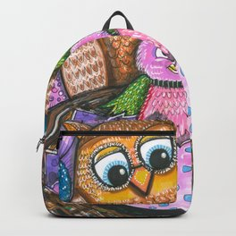 Birth of chick and owl. Little bird Backpack
