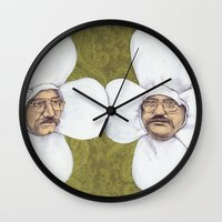 men Wall Clocks featuring Flower Men by Jason Ratliff