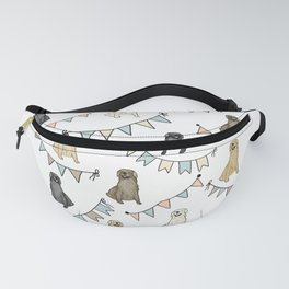 Golden Retrievers and Banners pattern Fanny Pack