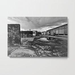 Abandoned East German cow's milk factory Metal Print