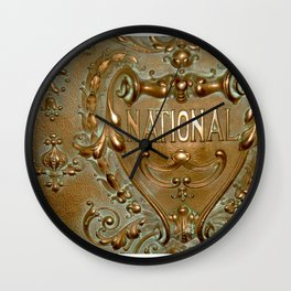 National by Lika Ramati Wall Clock
