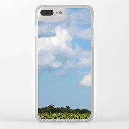 Field of Sunflowers Horizontal Clear iPhone Case