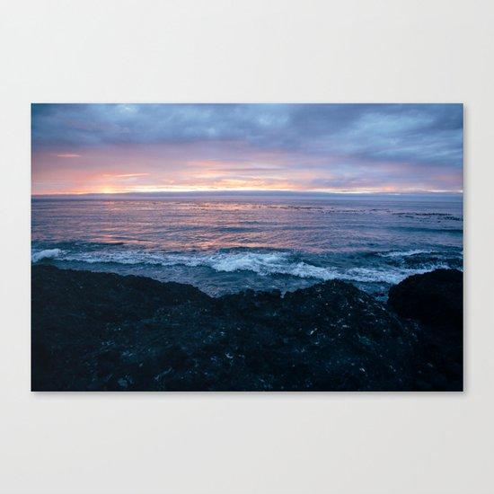 Violet Coast Canvas Print