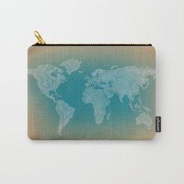 It's a Big ol' World - Pointilist Artwork Carry-All Pouch