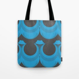 blue and gray circles Tote Bag