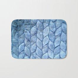 Ocean Blue Shell Bath Mat