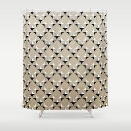 Mod Khaki Shower Curtain