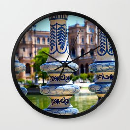 Glimpse of Spain Wall Clock